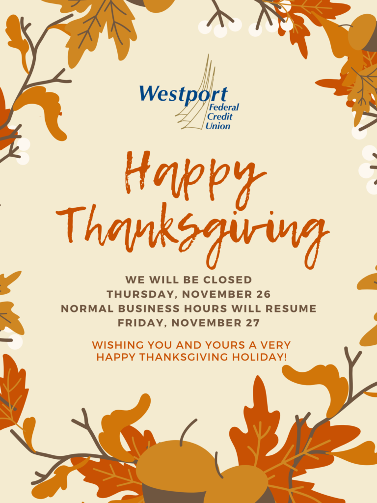 Credit Union Thanksgiving Closing